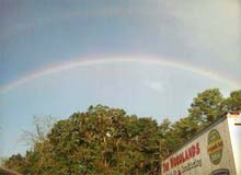 Rainbow above our truck.